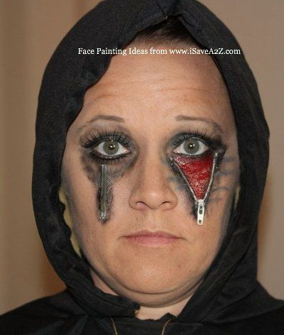 Halloween Face Painting Zipper Face Photo  sc 1 st  Pinterest : zipper face halloween costumes  - Germanpascual.Com