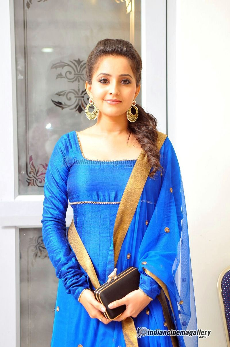 Bhama looks gorgeous in this Blue Churidar