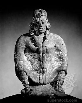 Clay Female Figure (Mayan) from Jaina Island, Mexico