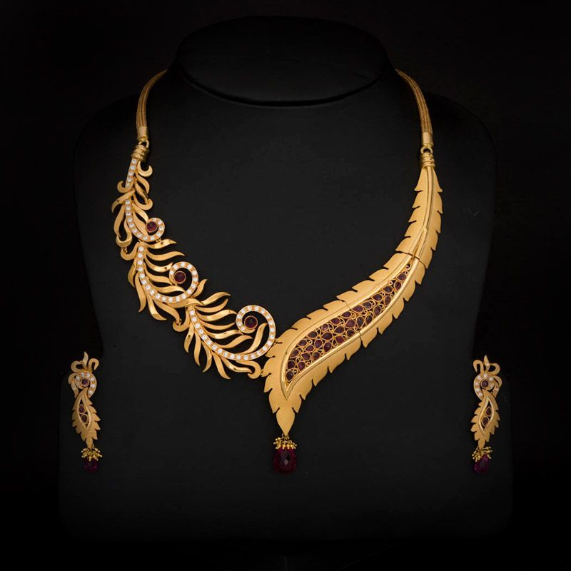 antique necklace gold south set traditional style indian