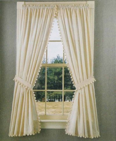 Curtains...Ball Fringe On Muslin. Available For More Than 50 Years From