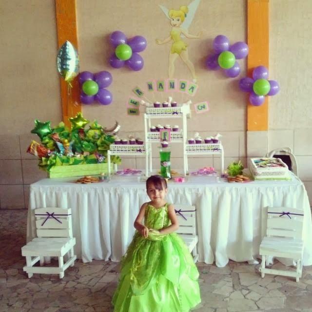 Fiesta tematica de campanita fiesta tres a os para ni a for Decoracion cumpleanos nina 2 anos