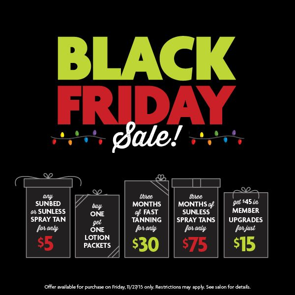 Sun Tan City Black Friday Deals For 2015 Are Available Friday