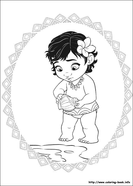Moana coloring picture | kids | Pinterest | Moana disney, Disney ...