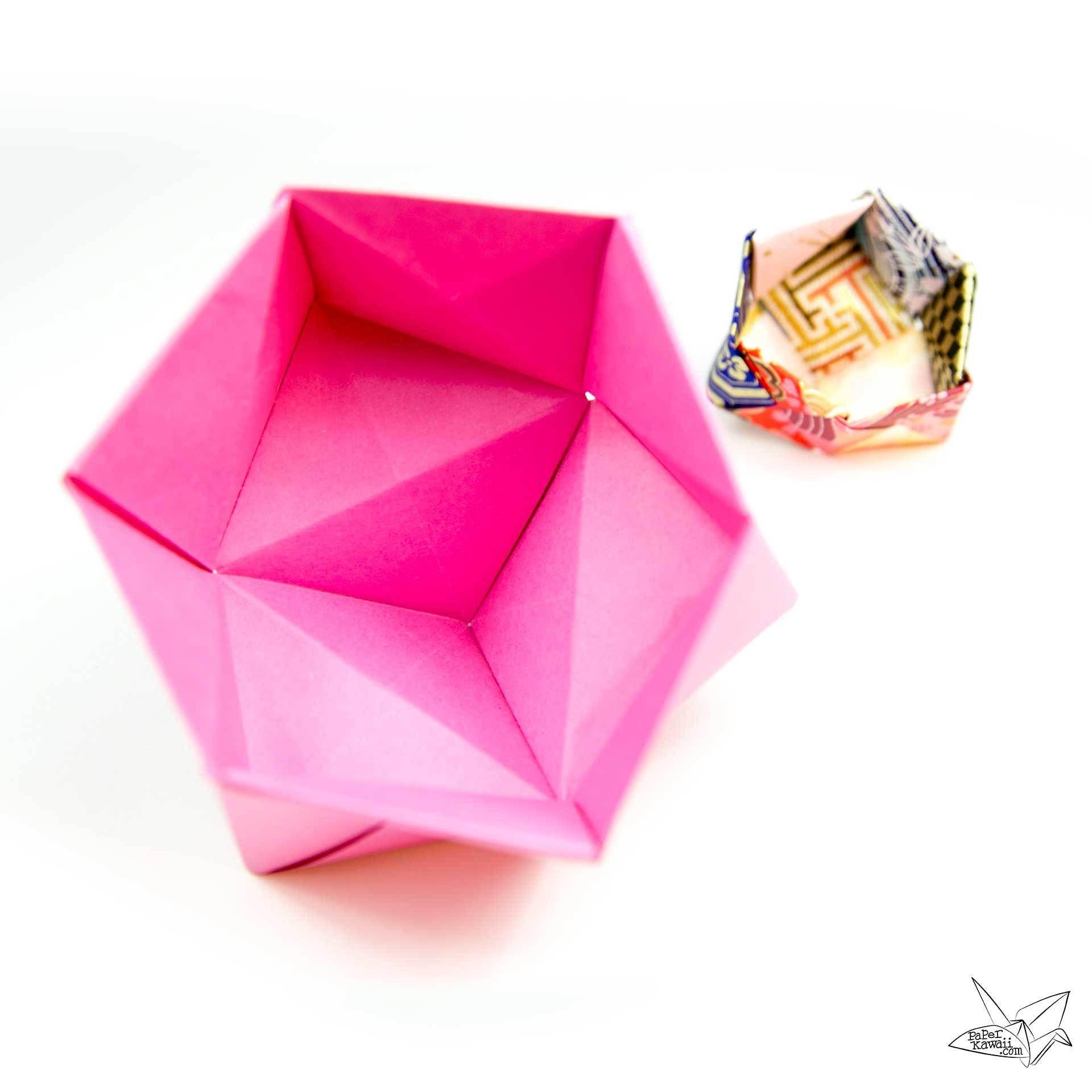 Modular Origami Sonobe Bowl Tutorial Pinterest Modular Origami