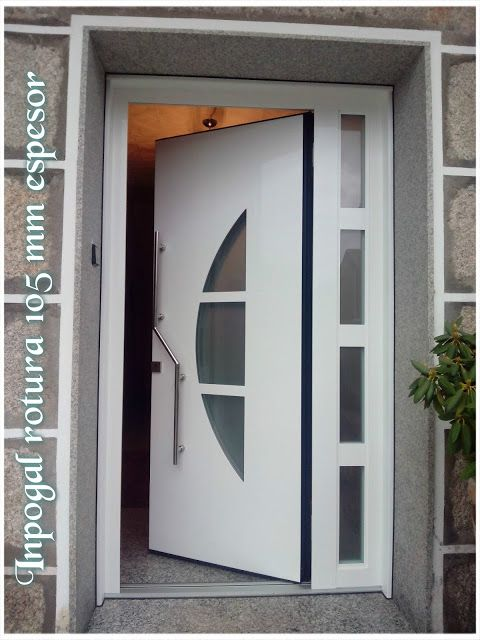 Puertas aluminio inpogal ideas casa en 2019 puertas de for Puertas de entrada principal modernas