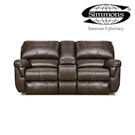 Fantastic Simmons Bucaneer Cocoa Reclining Console Loveseat At Big Onthecornerstone Fun Painted Chair Ideas Images Onthecornerstoneorg