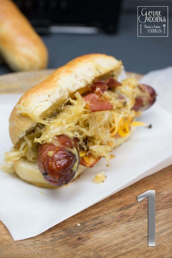 rezept hot dog mit karamellisiertem sauerkraut gernekochen in 2018 hotdogs pinterest. Black Bedroom Furniture Sets. Home Design Ideas