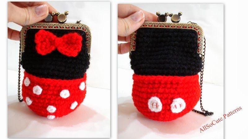 AllSoCute Amigurumis: Minnie Mouse Crochet Girl Purse, Bag, Mickey ...