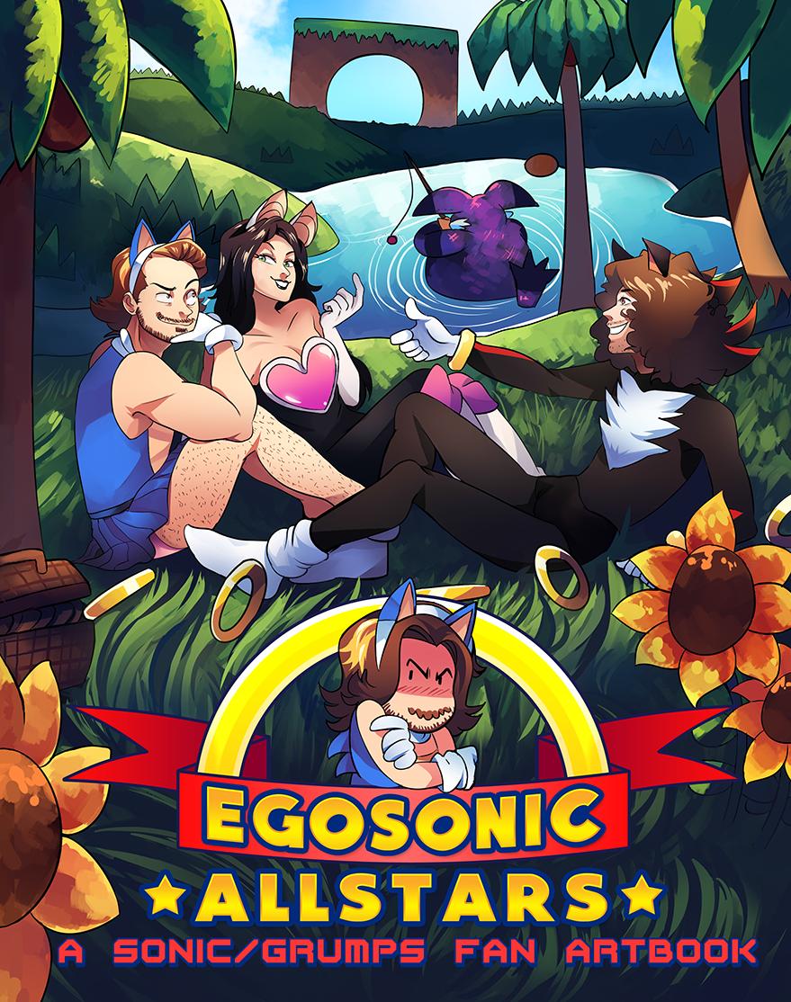 Egosonic Artbook Art Games Sonic The Hedgehog Youtubers