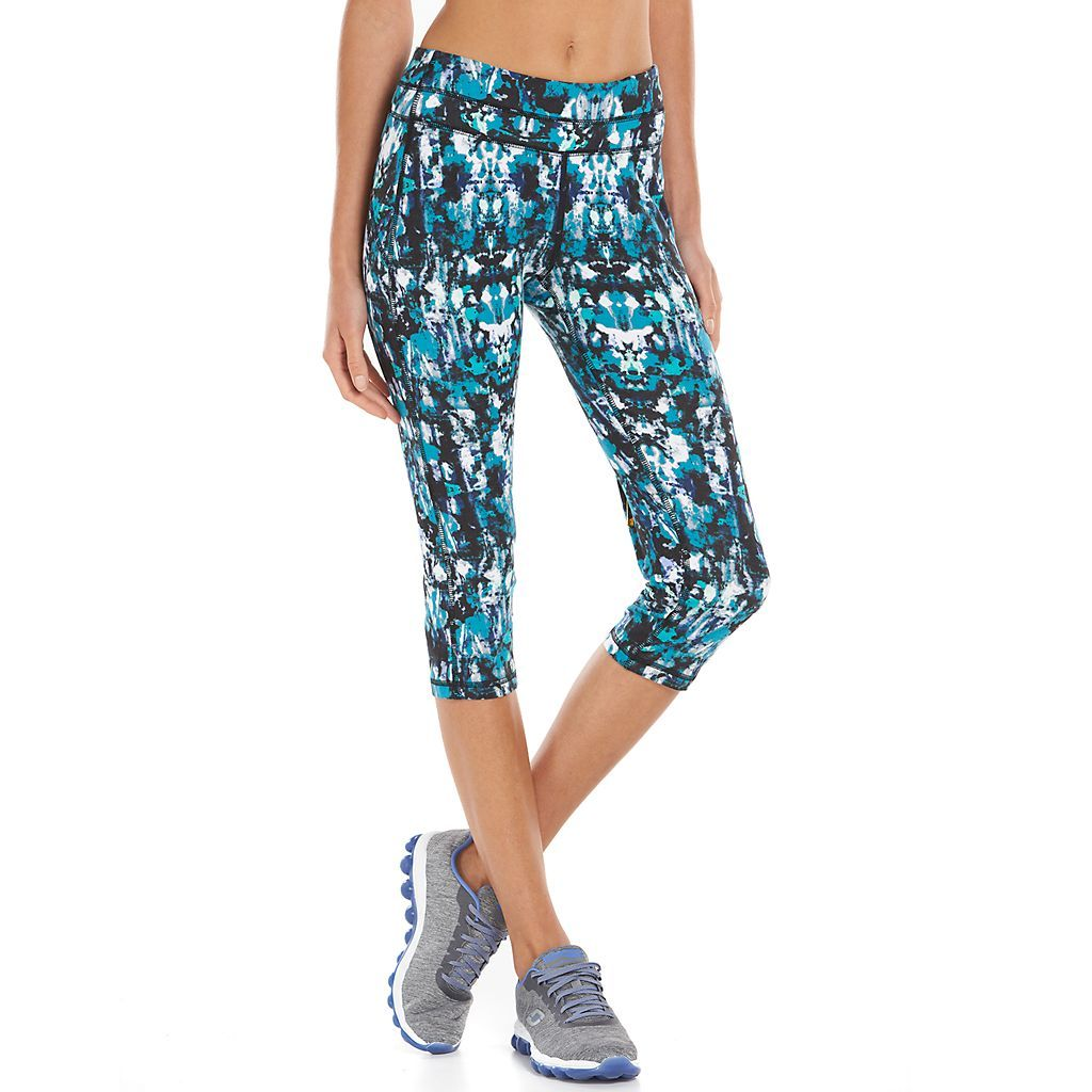 Women's Tek Gear® Core Lifestyle Capri Yoga Leggings- texture teal