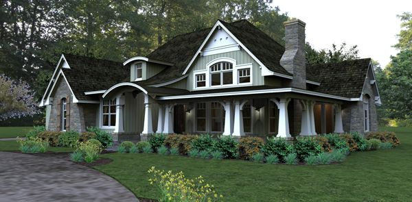Single Story Home Exterior cottage style single story home exterior | the house designers