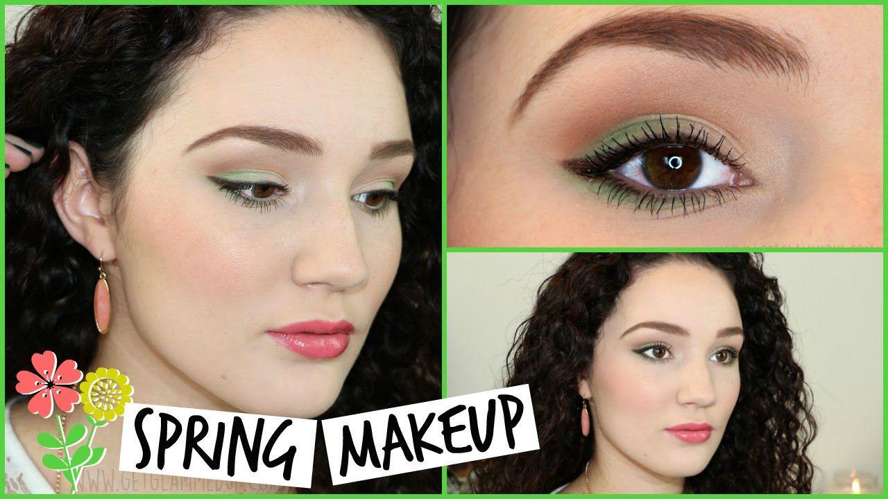 Subtle Green Spring Makeup Tutorial Spring Makeup Spring Makeup