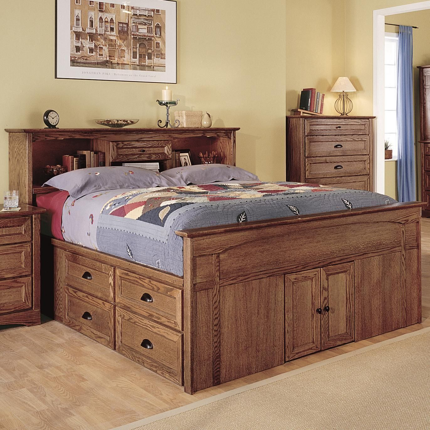 Diy Platform Queen Bed With Drawers In 2020 With Images Bed