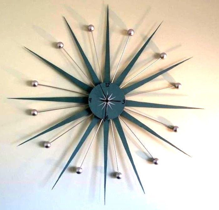 mid century starburst clock kit make your own herman miller match