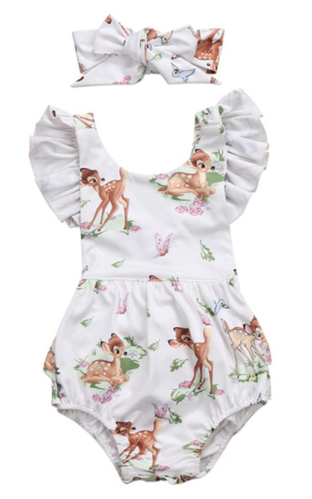 5e8c9db4906 StylesILove Infant Baby Girl Ruffled Cap Sleeve Sunsuit Romper with  Selftied Headband 2 pcs Outfit Set 100 1218 Months -- Click image for more  details.