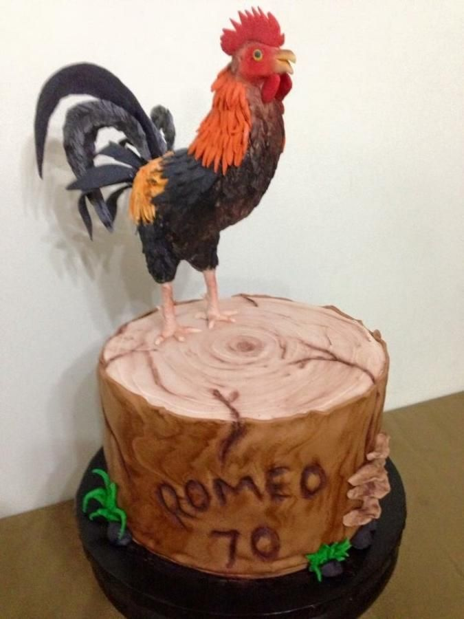 rooster by leolay cakes cake decorating daily inspiration
