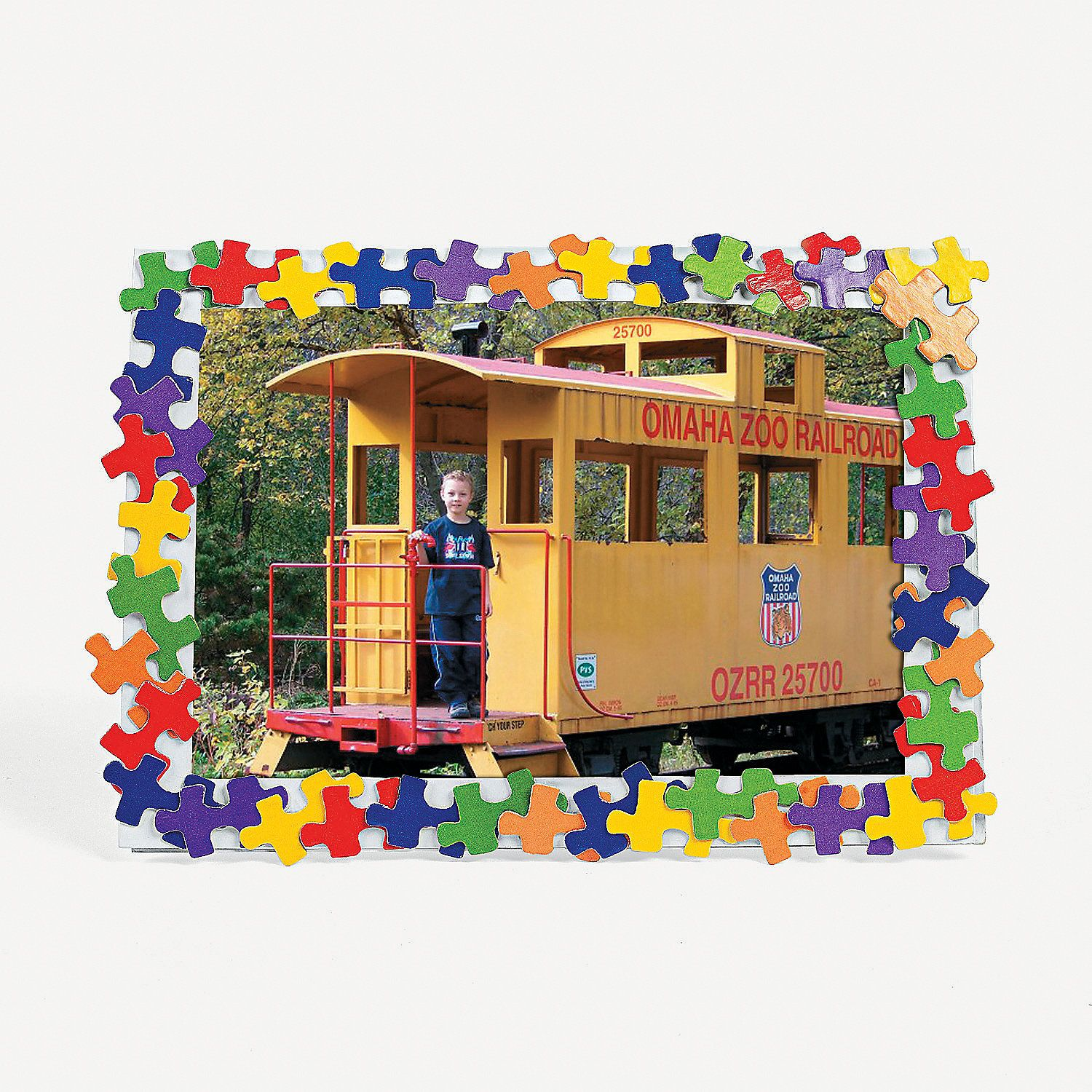 Colorful Puzzle Piece Photo Frame Craft Kit - OrientalTrading.com ...