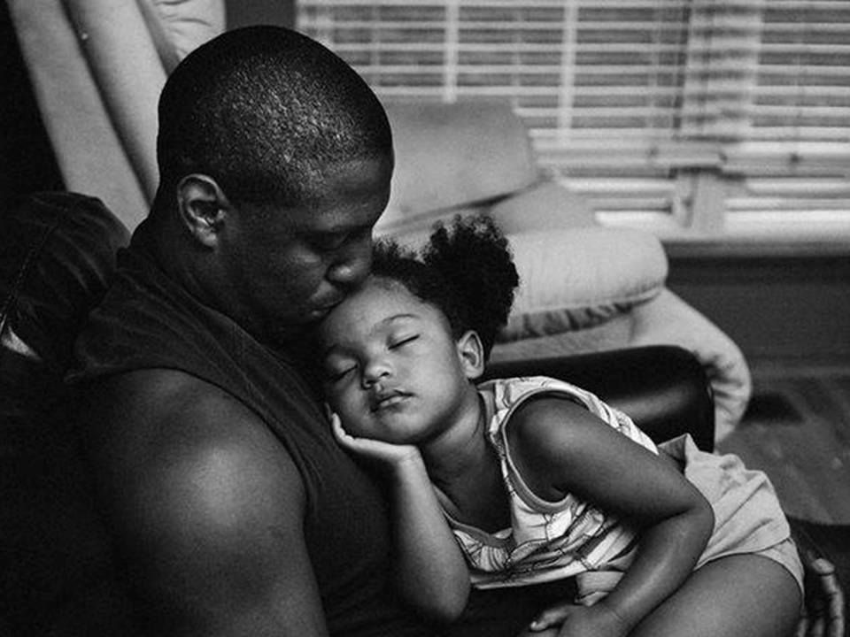 Image result for black man and daughter in black and white