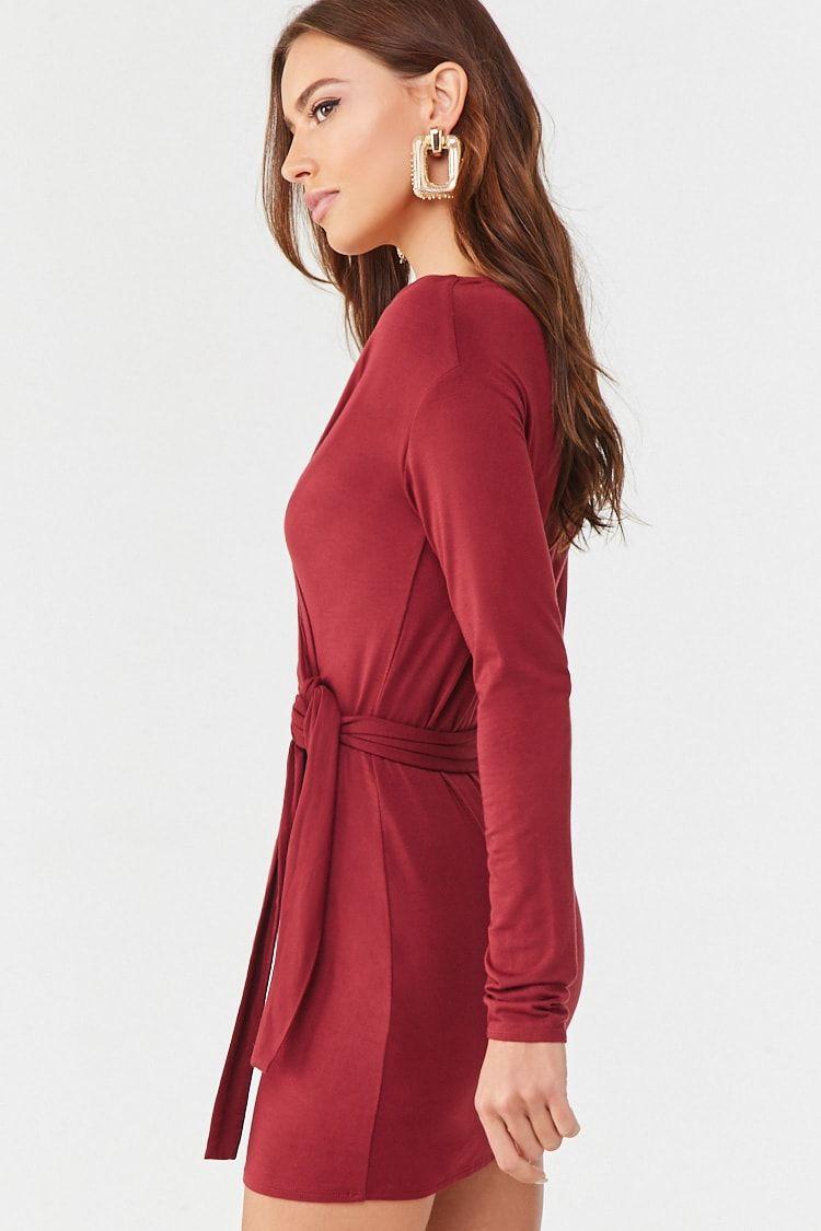 Surplice Wrap Dress Affiliate Sponsored Surplice Wrap Dress Surplice Wrap Dress Wrap Dress Knit Mini Dress [ 1125 x 750 Pixel ]