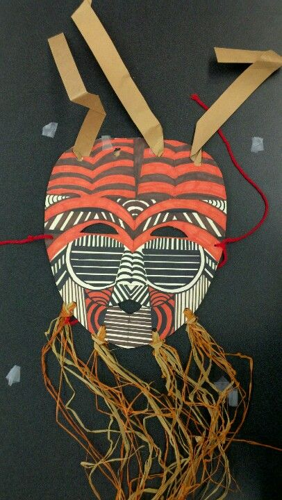 afrikanische maske kunstunterricht pinterest. Black Bedroom Furniture Sets. Home Design Ideas
