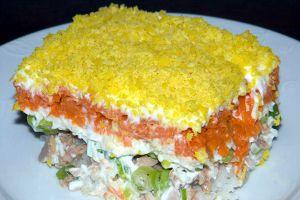 Слоеные салаты - рецепты с фото вкусные и простые   Food ...
