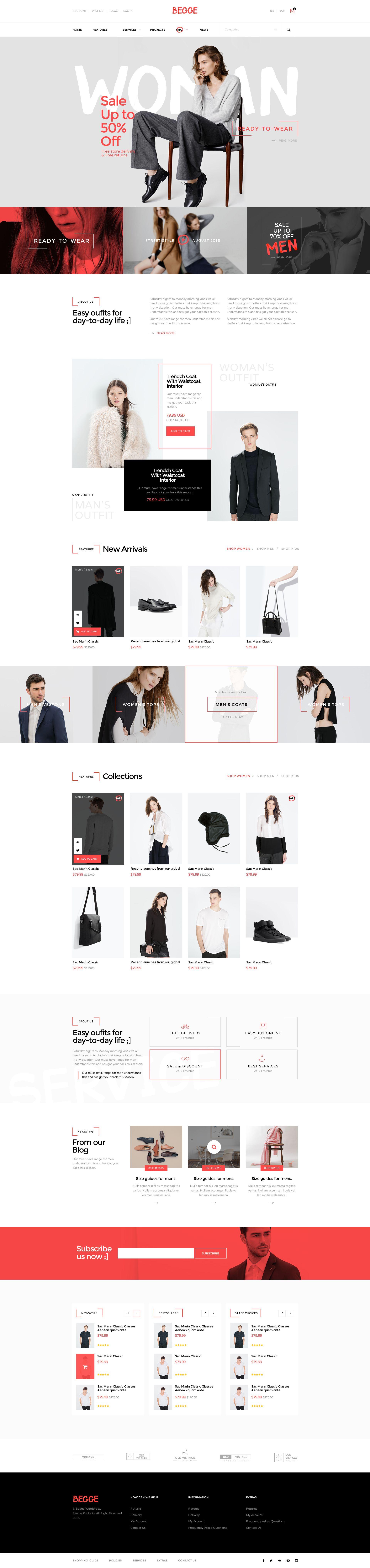 Begge - Modern Fashion Shop PSD Template | Modern fashion, Psd ...