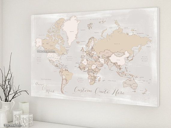 World map canvas print custom quote neutrals map distressed world map canvas print custom quote neutrals map distressed large world map gumiabroncs Image collections