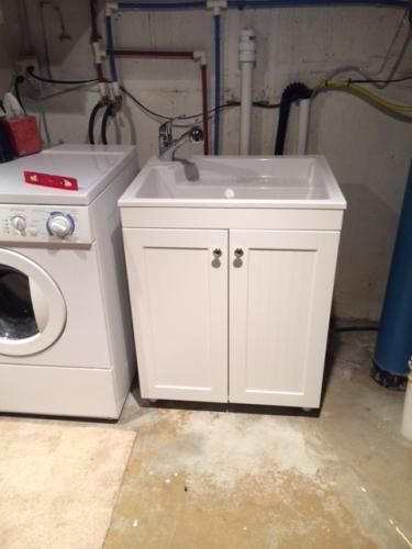 Glacier Bay AllinOne 275 in W x 218 in D Composite Laundry