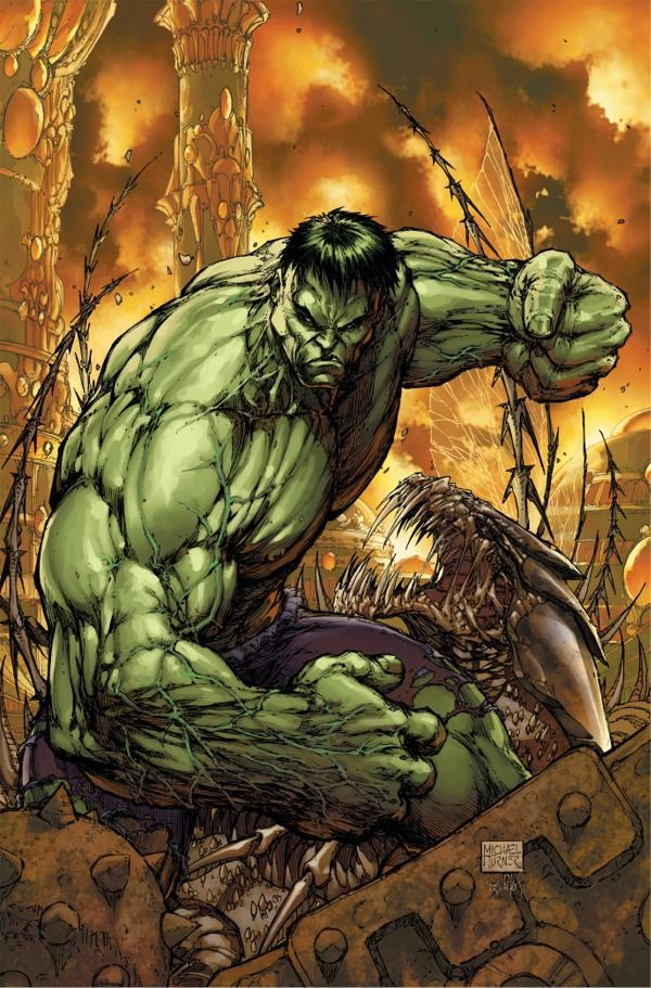 Incredible Hulk #100, by Comic Artist Michael Turner (R.I ...