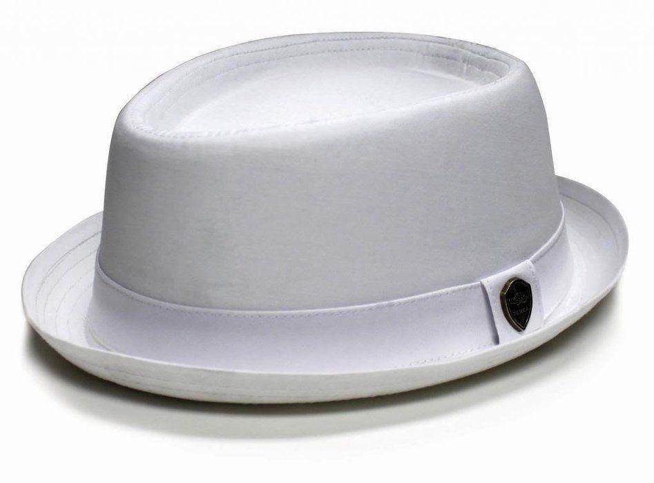 74305bfaed2 City Hunter Pmt112 Cotton Plain Porkpie with Self Band Fedora (White- L/xl  Size)