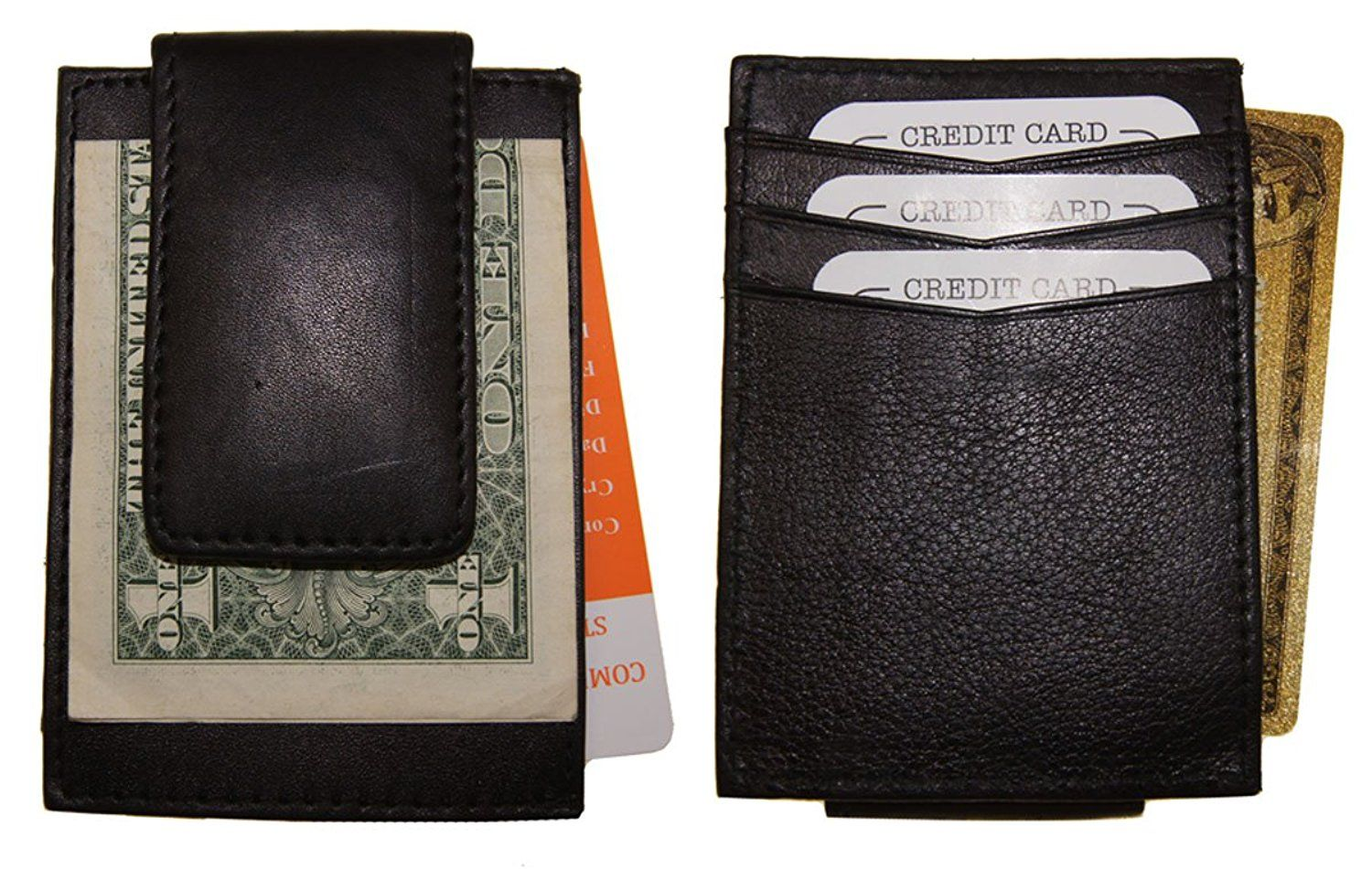 Ag wallets mens leather money clip credit card