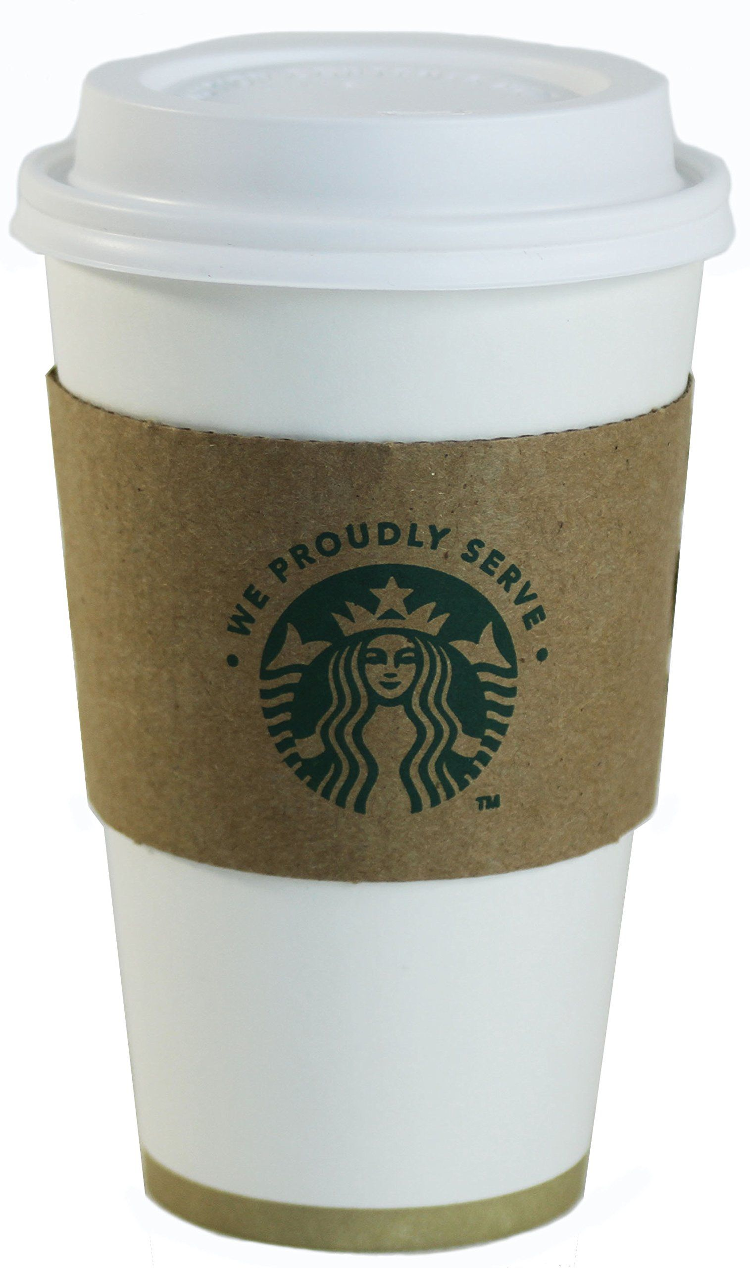 Starbucks White Disposable Hot Paper Cup, 16 Ounce