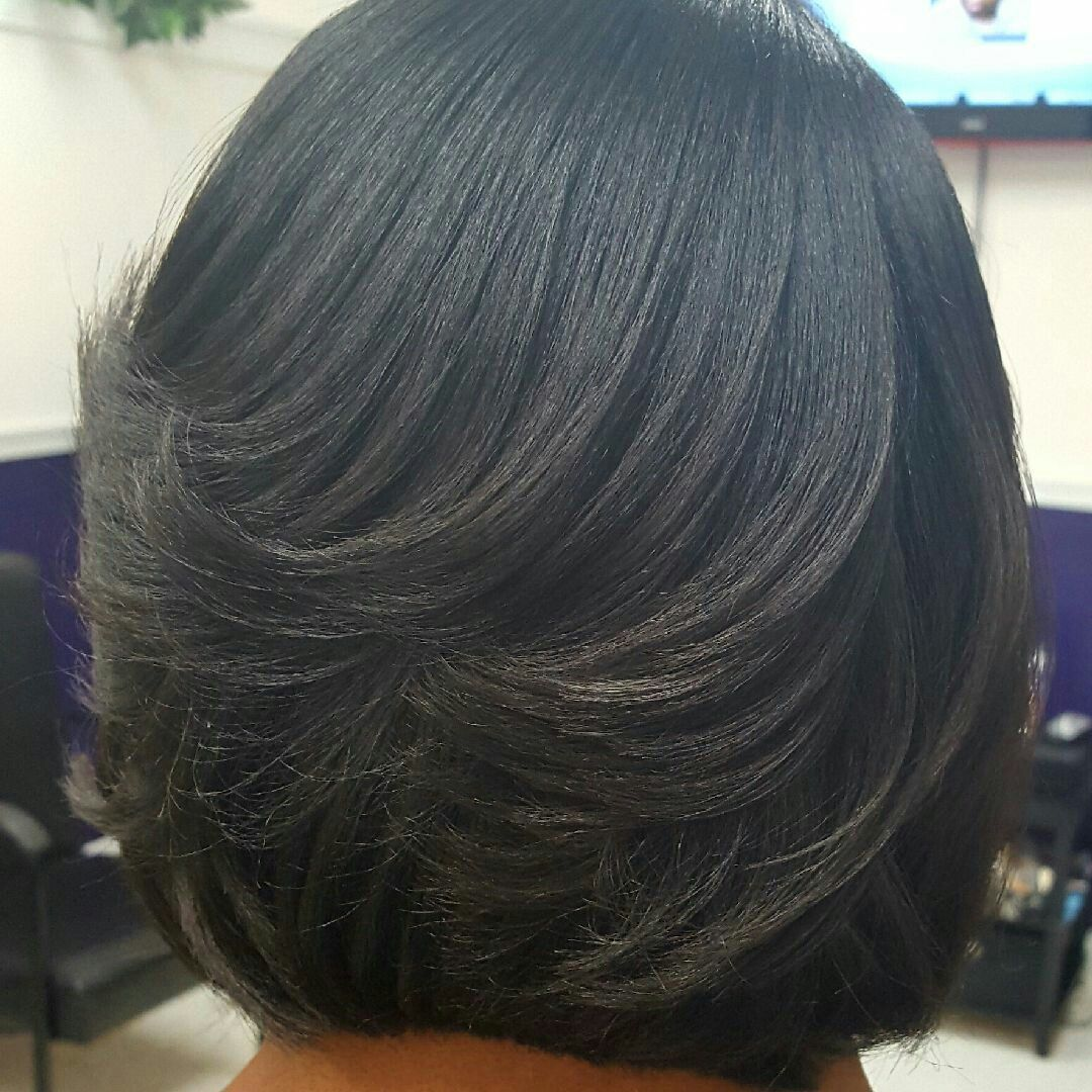 I Had Been Wanting Straight Hair For A While These Are The Results Of My Super Layered Bob Hairstyles For Black Women Straight Hairstyles Natural Hair Styles