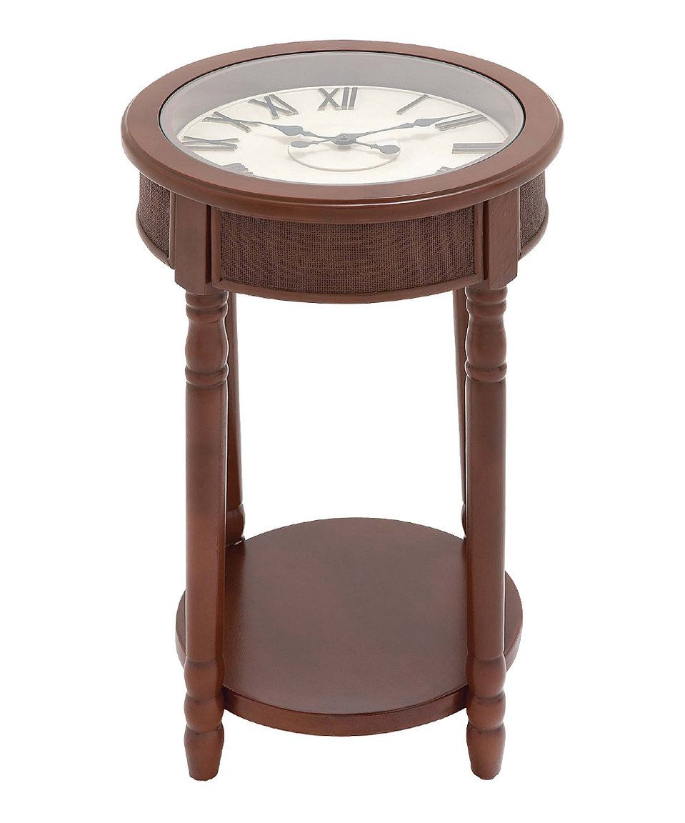 This Brown Clock End Table by UMA Enterprises is perfect! #zulilyfinds