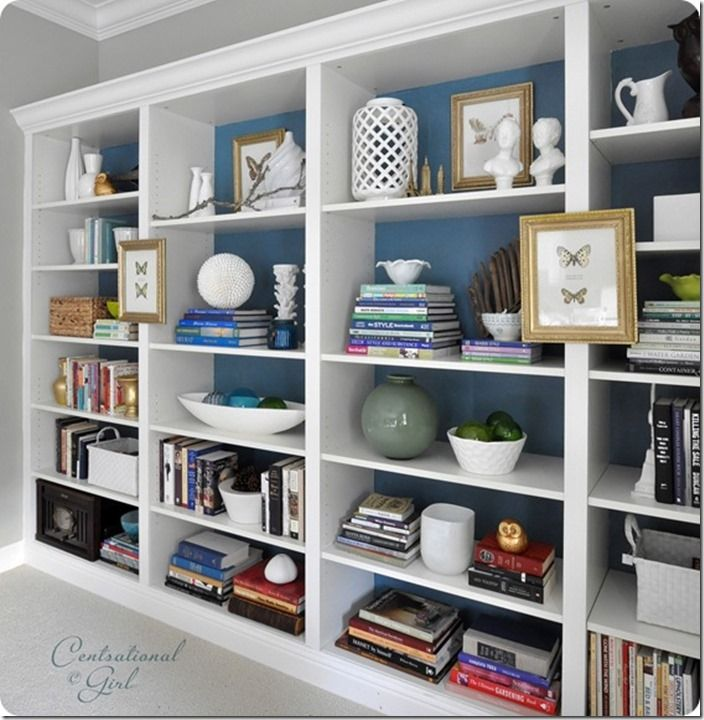 Den Project Built In Billy Bookcase Ideas Bookshelves Home