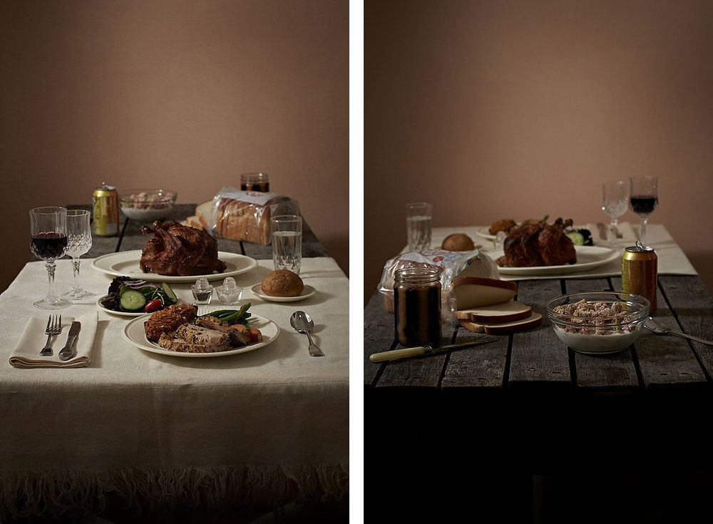 Henry Hargreaves and Caitlin Levin reminds us the stark difference of the elite and the rest eats through the food photography series entitled: Power Hungry