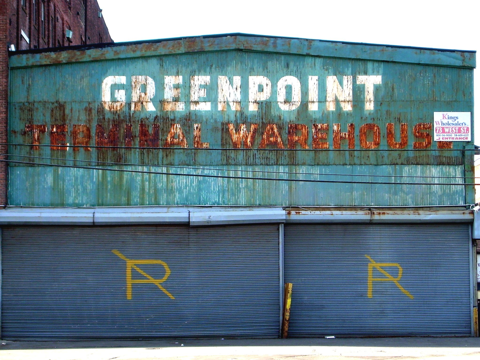 Greenpoint Terminal Warehouse. Now a holding area for the ...