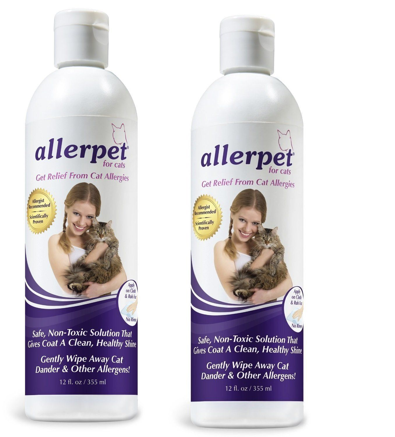 2Pack Allerpet for Cats, 12 Ounces ** You can get more