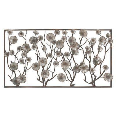 Cole Grey Metal Wall Decor Metal Wall Flowers Flower Wall