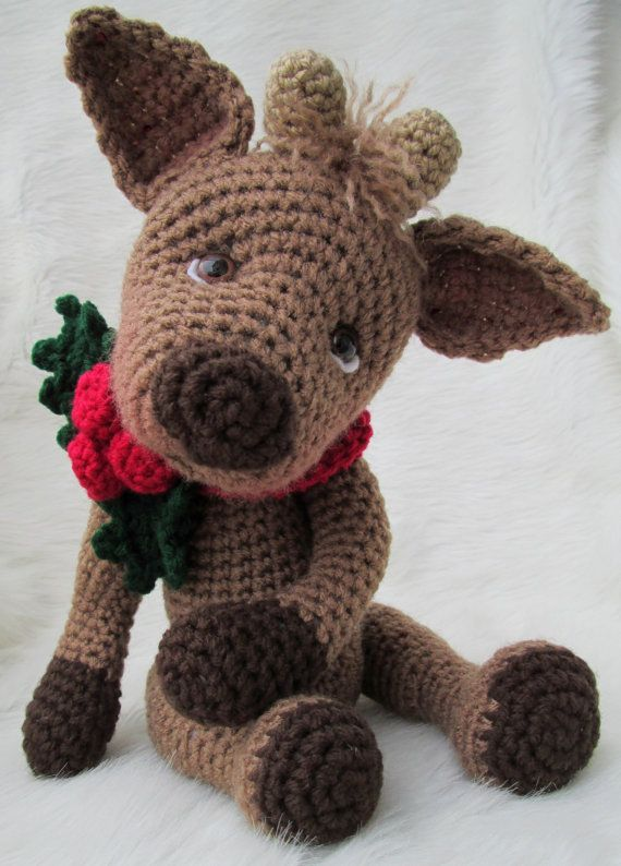 Crochet Pattern Cute Reindeer by Teri Crews Wool and Whims Instant ...
