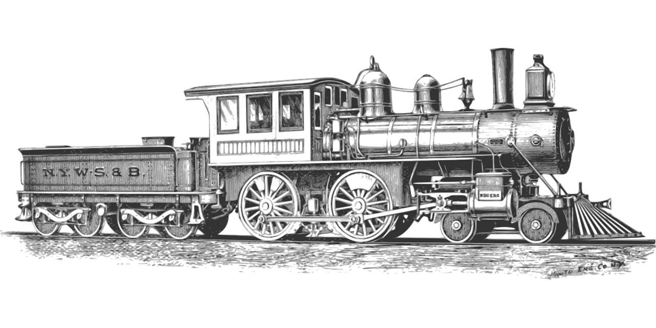 Kostenloses Bild auf Pixabay - Lokomotive, Monochrom, Eisenbahn ...