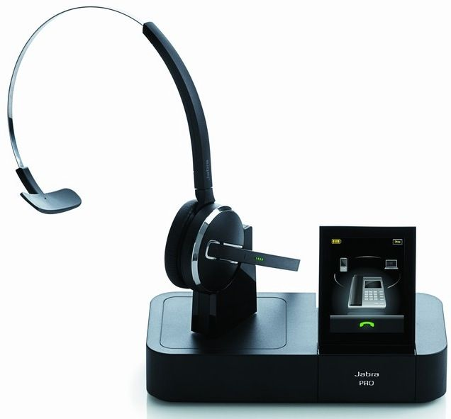 Jabra Pro 9400 bluetooth and DECT headset  touchscreen base redefines overkill