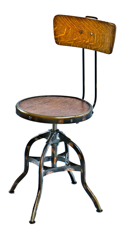 Marvelous 1905 Very Early Antique American Industrial · Metal FurnitureDesk StoolBoy  ...
