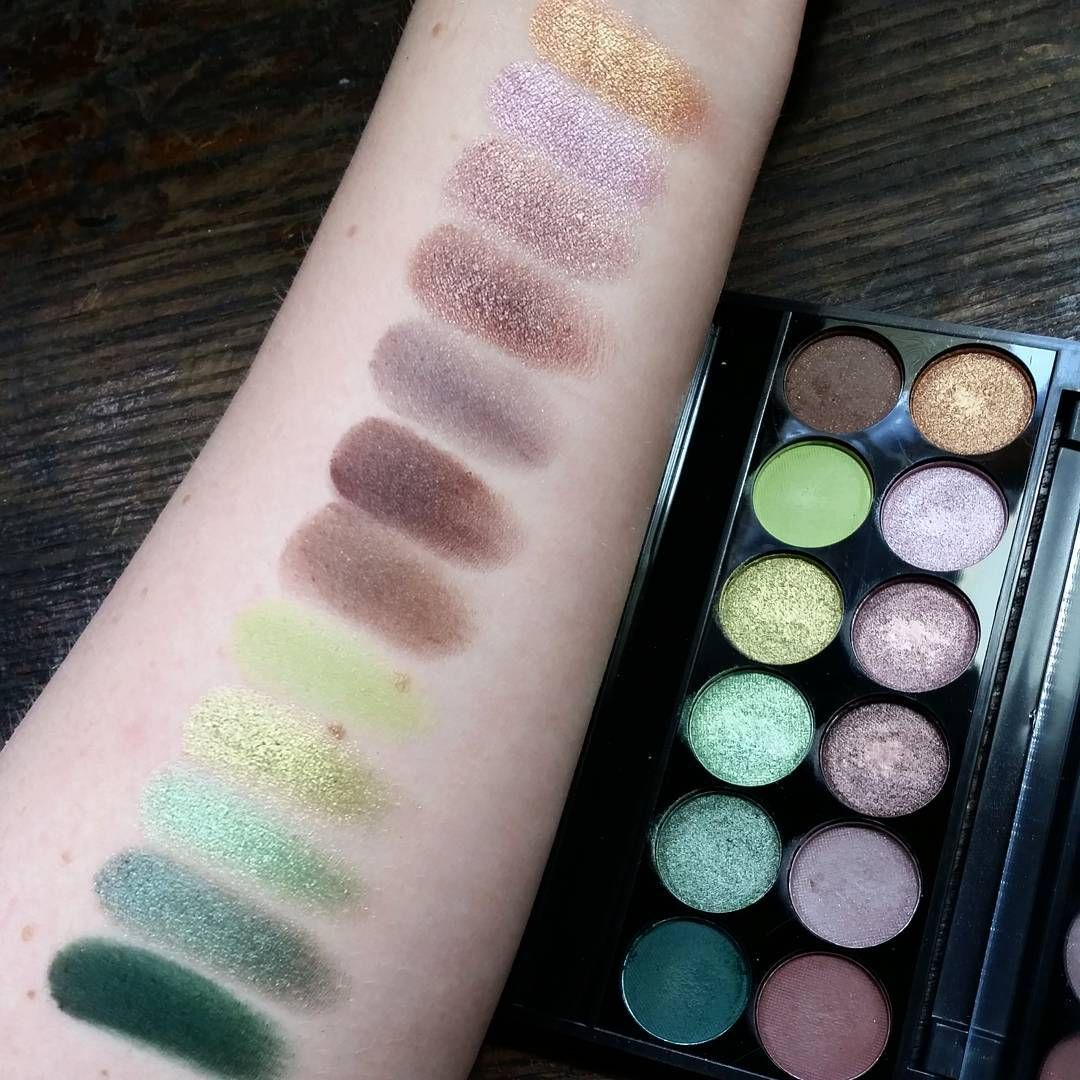 Swatches of the Sleek Makeup i-Divine palette in Garden of Eden. The ...