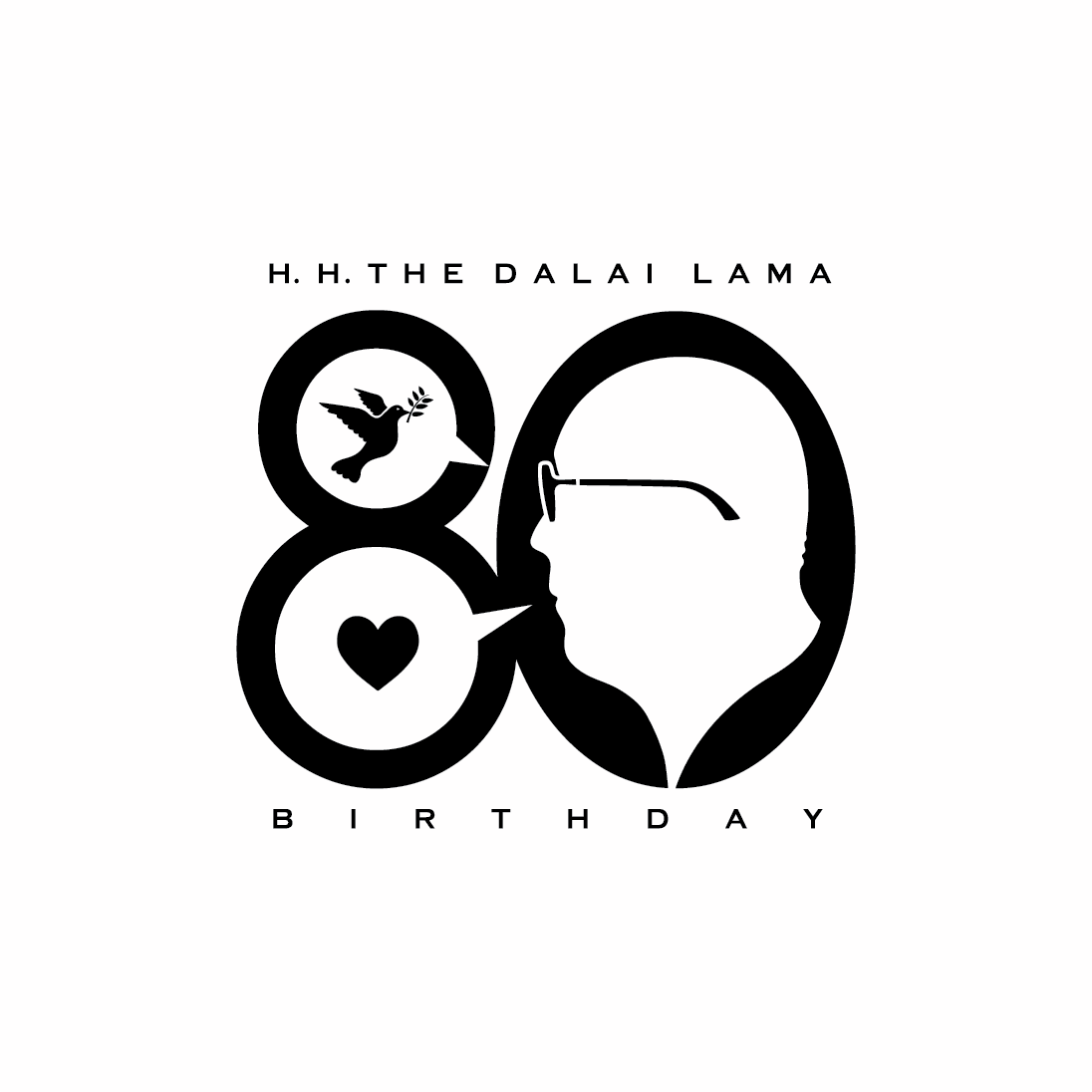 His Holiness The Dalai Lama S 80th Birthday Celebration Logo By Lonzz Gagatsang Logos Anniversary Logo Logo Illustration