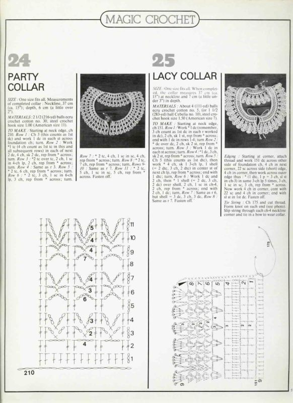Patterns for two collars