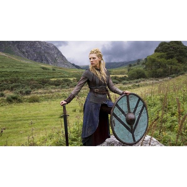 Lagertha the Shieldmaiden Vikings ❤ liked on Polyvore featuring vikings