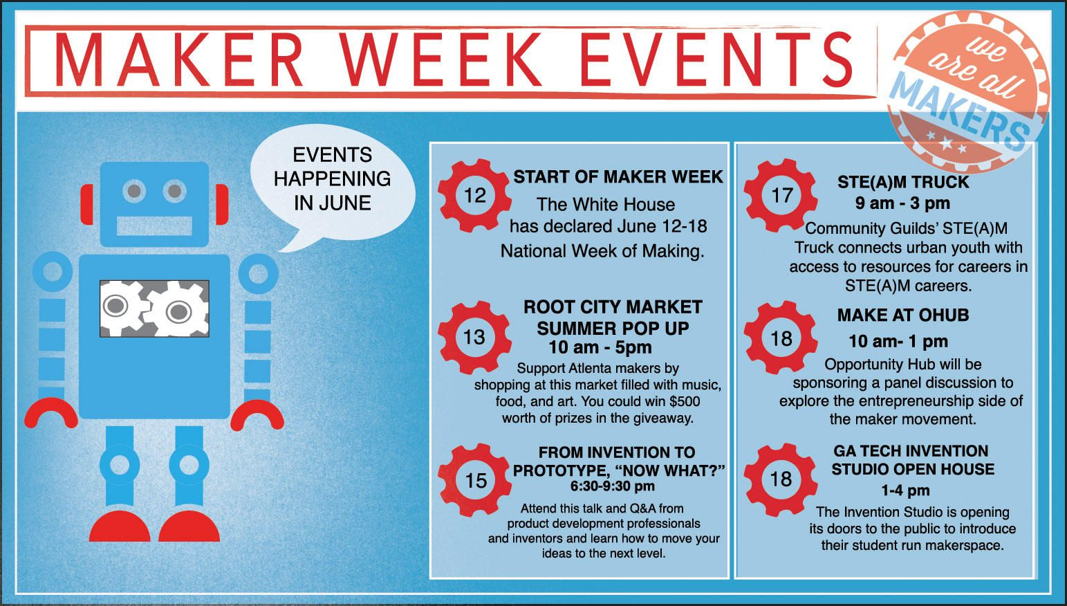 Maker Week events of June 12-18th 2015