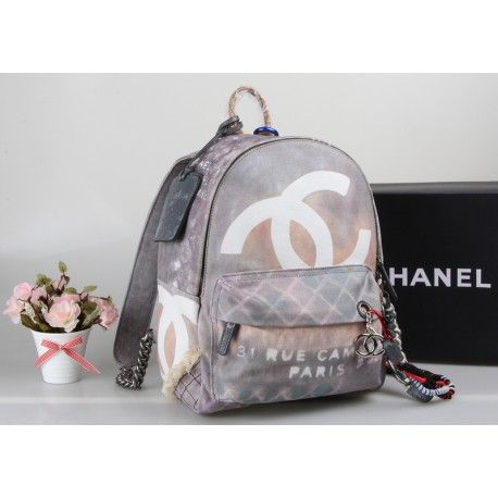 chanel original authentisch rucksack grau tasche g nstig. Black Bedroom Furniture Sets. Home Design Ideas